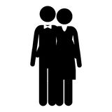 Pictogram husband and wife embraced Royalty Free Stock Image