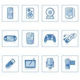 Pictogram I van de elektronika Stock Afbeeldingen