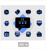 Pictogram interface symbols vector Stock Photo