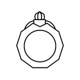 Pictogram jewelry ring bride icon design Royalty Free Stock Images