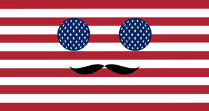 Pictogram in kleuren van de Amerikaanse vlag Stock Afbeeldingen