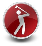 Pictogram, Knoop, Pictogram Golfing stock illustratie