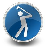 Pictogram, Knoop, Pictogram Golfing vector illustratie