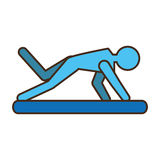 Pictogram man practicing pilates sport Royalty Free Stock Photography