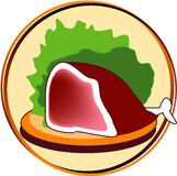 Pictogram - meat Stock Photo
