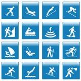 Pictogram met sportactiviteiten Stock Foto
