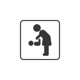 Pictogram for mother and baby restroom. For changing diaper Royalty Free Stock Image
