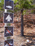Pictogram national park signs royalty free stock image