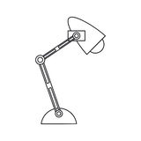 Pictogram office desk lamp light icon. Vector illustration eps 10 Stock Image