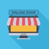 Pictogram online winkel Stock Afbeeldingen