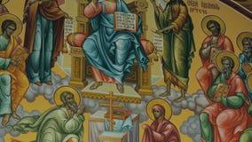 Pictogram in Orthodoxe Kerk stock footage