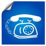 Pictogram oude telefoon getrokken teller Royalty-vrije Stock Afbeeldingen