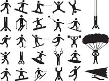 Pictogram people doing extreme sports Royalty Free Stock Image