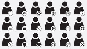 Pictogram people icons Royalty Free Stock Photography