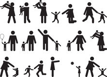 Pictogram people with kids Stock Photos
