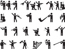 Pictogram people singing Stock Photography