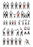 Pictogram poeple, vector. Pictogram of a woman, men and children, vector illustration Royalty Free Stock Photography