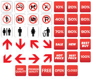 Pictogram prohibited sale discounts Royalty Free Stock Photography