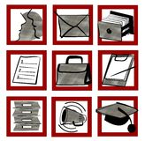 Pictogram set. Internet - illustration Stock Images