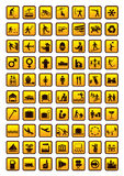 Pictogram set. Isolated on white. Vector illustration Royalty Free Stock Images