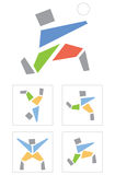 Pictogram sportsman Stock Photography