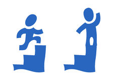 Pictogram with steps Royalty Free Stock Image