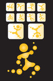 Pictogram sunman_d Stock Photo
