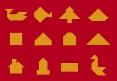 Pictogram; tangram vormen (vector) stock illustratie