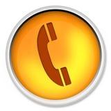 Pictogram, telefoon, telefoon, elektronische kabel, apparatuur, bureau, knoop, telecommunicatie Stock Afbeelding