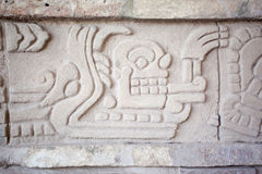 Pictogram in Tula de Allende. Pictogram. Ancient ruins of Tula de Allende, home of the Atlantean figures and  the characteristic chacmools. In the state of Royalty Free Stock Image