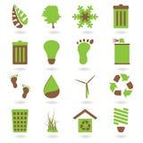 Pictogram twee van Eco toon vector illustratie