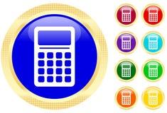 Pictogram van calculator Stock Foto's