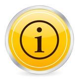 Pictogram van de het symbool het gele cirkel van info Royalty-vrije Stock Foto's