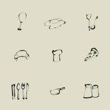 Pictogram van de keuken het Chinese borstel vector illustratie