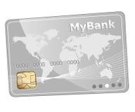 Pictogram van de krediet het plastic betaalpas royalty-vrije illustratie
