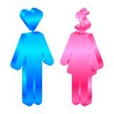 Pictogram van de mens en vrouw Stock Foto