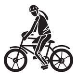 Pictogram van de sport het extreme fiets, eenvoudige stijl vector illustratie