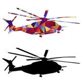 Pictogram van de veelhoek het Militaire Helikopter Royalty-vrije Stock Foto's