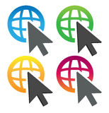 Pictogram van de wereld Stock Foto