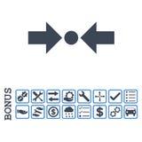 Pictogram van druk het Horizontale Vlakke Glyph met Bonus Royalty-vrije Stock Afbeeldingen