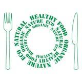 Pictogram van gezond voedsel stock illustratie