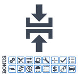 Pictogram van Glyph van de pers het Verticale Richting Vlakke met Bonus Royalty-vrije Stock Afbeelding