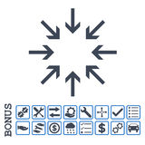 Pictogram van Glyph van drukpijlen het Vlakke met Bonus Stock Afbeelding