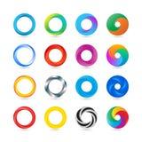 Pictogram van het bedrijfs het Abstracte Cirkelembleem vector illustratie