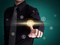 Pictogram van het bedrijfsmensen het dringende geld Stock Foto's