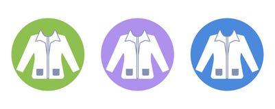 Pictogram van het de manier het vlakke pictogram van de jasjeschoonheid Royalty-vrije Stock Afbeeldingen