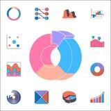 Pictogram van het rings 3D diagram Gedetailleerde reeks Grafieken & Diagramms-pictogrammen Grafisch het ontwerpteken van de premi Stock Afbeelding