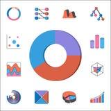 Pictogram van het rings 3D diagram Gedetailleerde reeks Grafieken & Diagramms-pictogrammen Grafisch het ontwerpteken van de premi Stock Foto