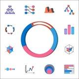 Pictogram van het rings 3D diagram Gedetailleerde reeks Grafieken & Diagramms-pictogrammen Grafisch het ontwerpteken van de premi Royalty-vrije Stock Fotografie