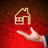 Pictogram van huis met zaken Royalty-vrije Stock Afbeeldingen